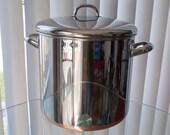 Vintage Revere Ware Stock Pot, Stockpot, 12 Quart Copper Clad