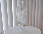 Vintage Echt Bleikristall Lead Crystal Compote Candy Dish, Large 14 quot