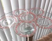 Vintage Pyrex Pink Gooseberry 6 quot Plates, Set of Six