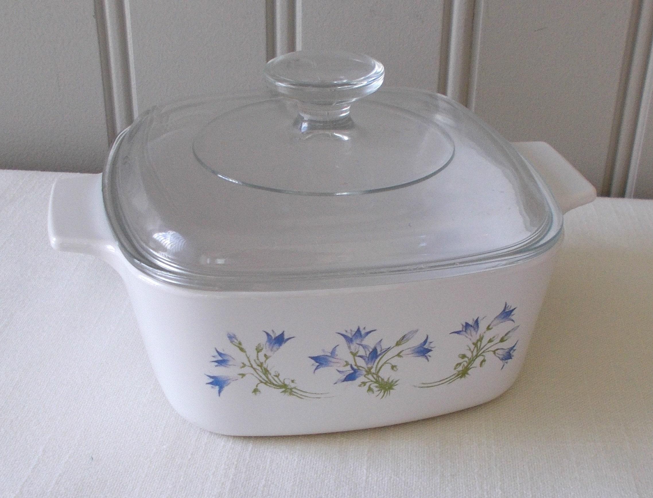 Vintage Corning Ware Casserole Violet Pattern Etsy