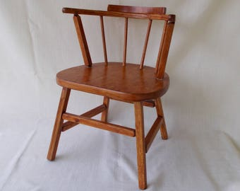 Wooden Youth Chair, Doll Chair, Vintage 1950u0027s