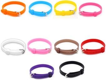 "Wristband,Silicone Wristband,Watch Band , Buckle Band,Silicone Bracelet,Wristband Personalized,Cuff Bracelet, 8mm wide, 8-1/4""(21cm) 10pcs"