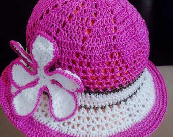 Items similar to Crochet Summer Hat Pattern 2a4da60c097