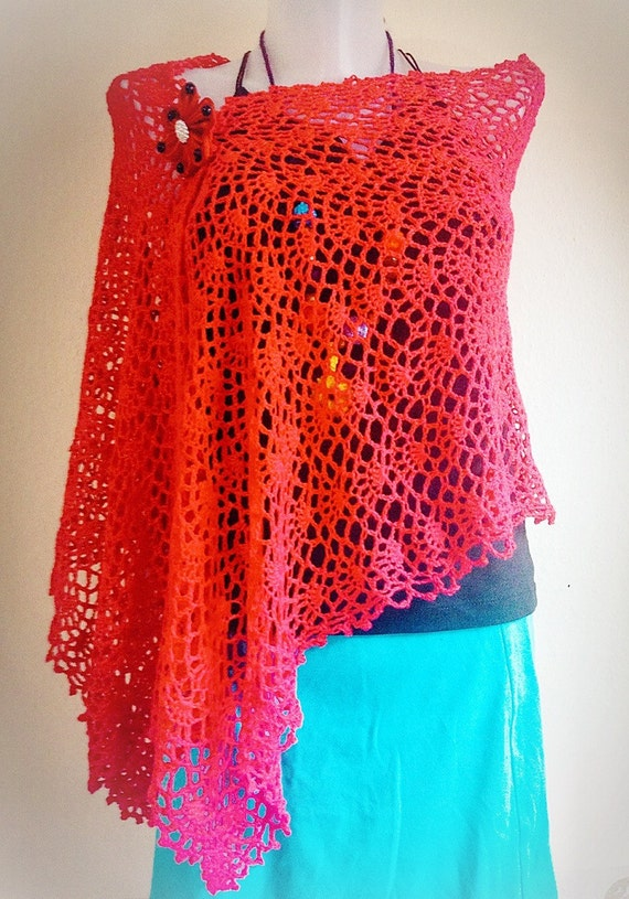 Crochet Pattern Easy Wrap Lace Tutorial Shawl Spring Crochet Etsy