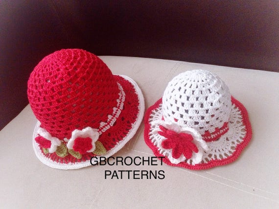 Crochet Pattern Mom and Me Baby to adult summer Sun hat  4df9f5f7801