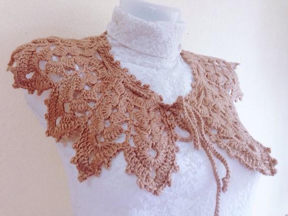 Pattern Crochet Collar Scarf Lace Collar Pattern Easy Collar Etsy