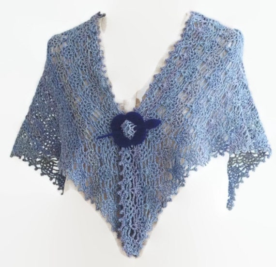 Pattern Crochet Summer Lace Shawl Easy Crochet Shawl Wrap Etsy