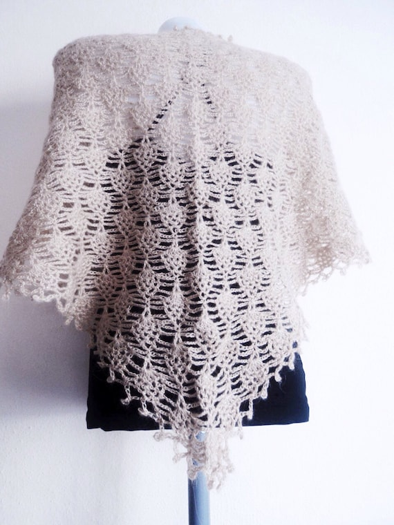 Pattern Crochet Summer Lace shawl Easy Crochet Shawl Wrap | Etsy