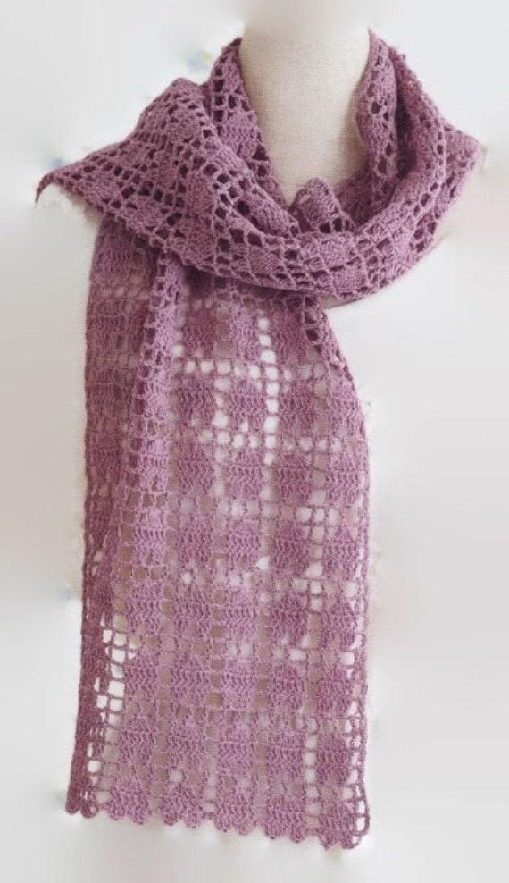 Pattern Crochet Easy Scarf Year Round Crochet Scarf Stole Etsy