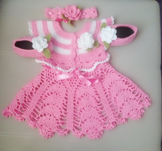 Crochet Baby Dress Pattern Set Girls Summer Crochet Dress Etsy