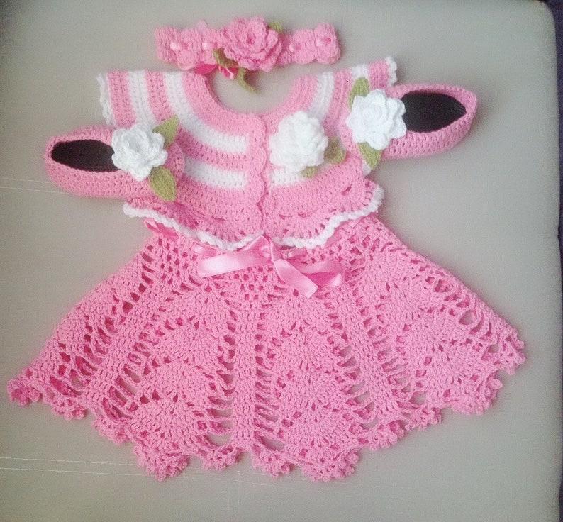 Crochet Baby Dress Pattern Set Girls Summer Crochet Dress Etsy