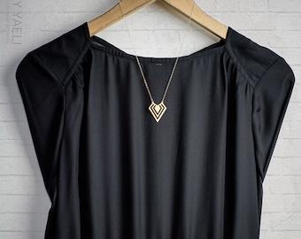 Triangle necklace geometric necklace dainty necklace woman necklace mom gift unique necklace gift for women minimalist necklace gift for her