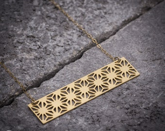 Rectangular necklace geometric necklace gold necklace gift for her everyday necklace unique necklace goldfield necklace