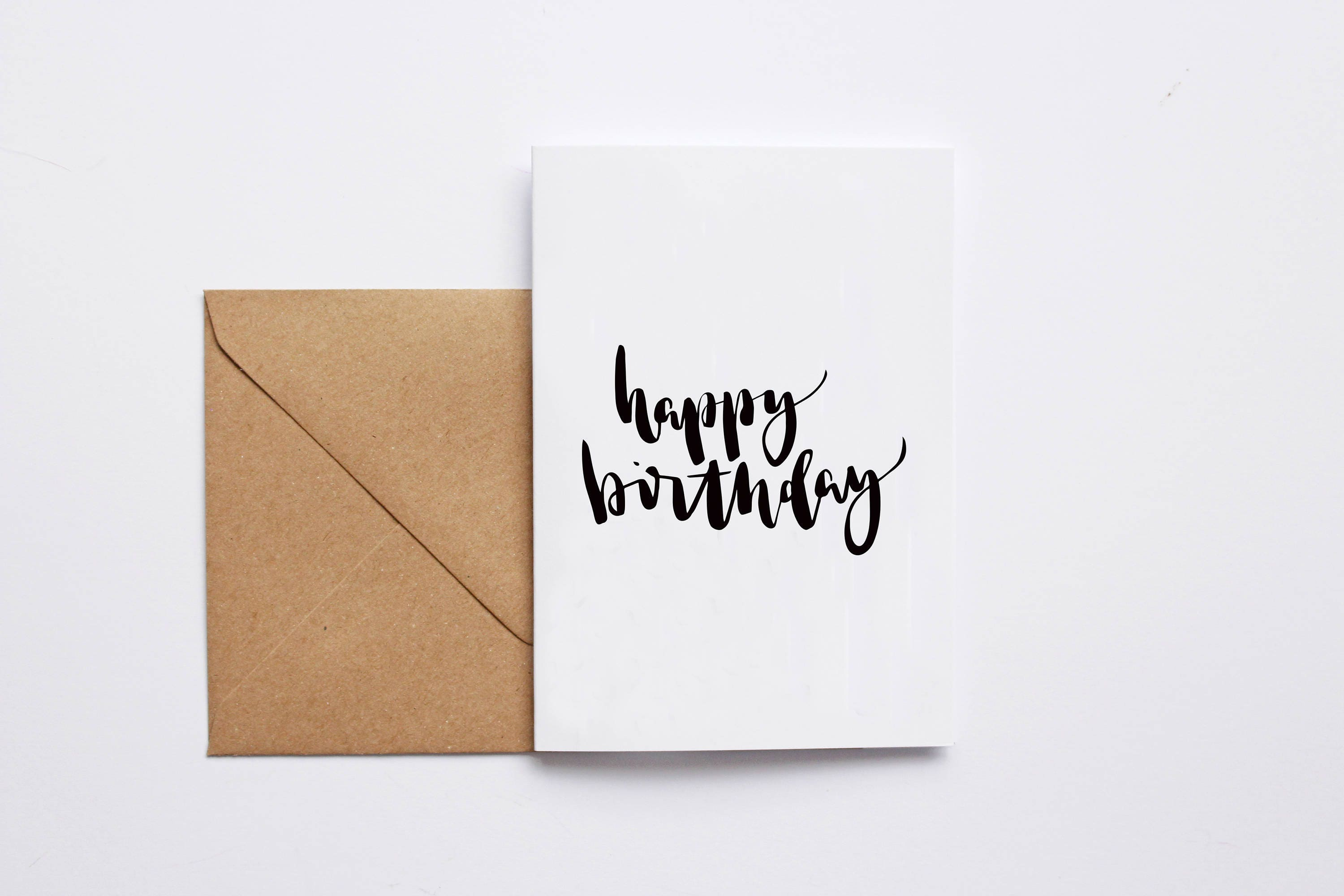 Happy Birthday Card Hand Lettered A6 Greeting Typography