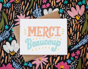 Merci Beaucoup French Thank You Greeting Card