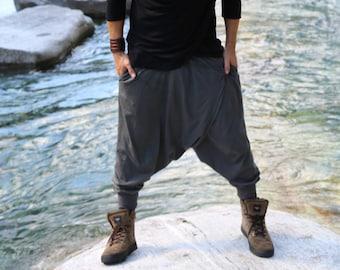 Ninja Pants / Harem pants men / Harem pants women / Samurai Pants / Drop Crotch pants / Sarouel Homme / Sarouel Femme / Organic Cotton