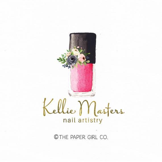 Nail Polish Logo Beauty Logo Premade Logo Nail Artistry Logo Etsy