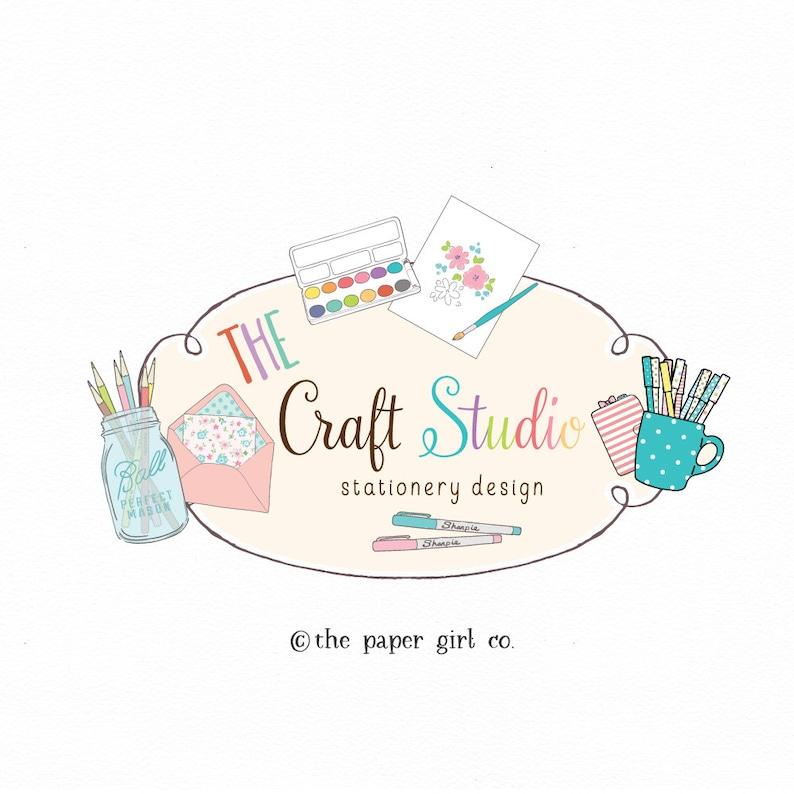 f4c45fd3afc124 Craft shop logo paper shop logo art teacher logo planner shop