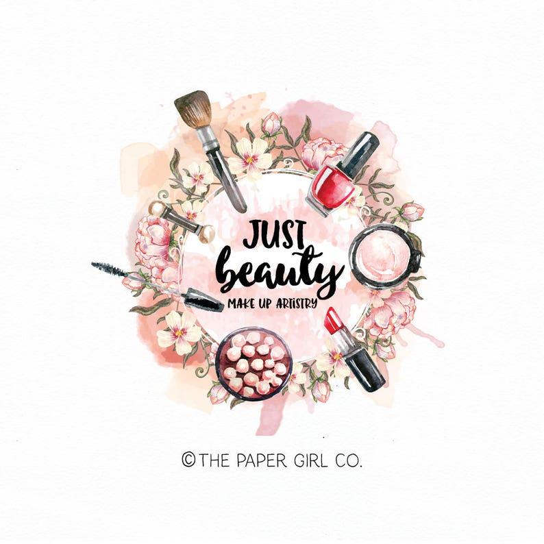 make-up logo beauty logo cosmetics logo makeup artist logo stylist logo  premade logo design beauty accessories logo lipstick logo blush logo