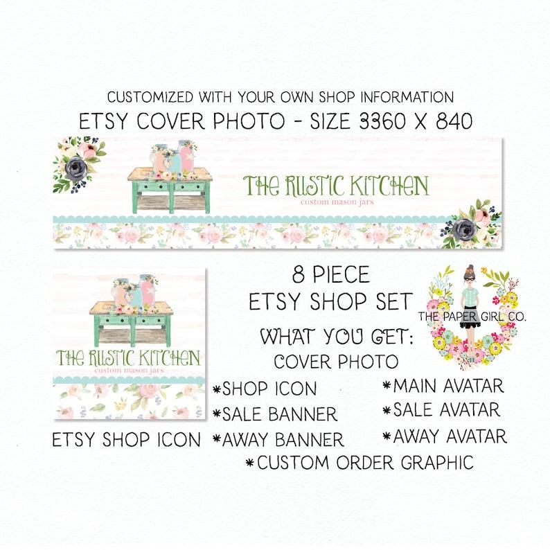 0e0e46e791801 mason jar etsy shop set home decor etsy set premade etsy set boutique etsy  set floral etsy set craft shop set rustic etsy set bespoke set