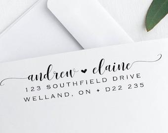 Custom Address Stamp, Self Inking Return Address Stamp, Personalized Address Stamp, Self Inking Address Stamp, Calligraphy Address Stamp,