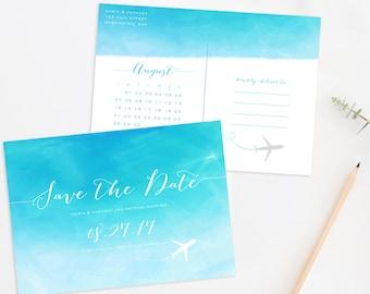 Destination Wedding Save the Date Postcard, Destination Wedding, Beach Wedding Save the Date, Beach Wedding Save the Date