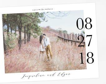 Calendar Save the date Postcard, Kraft Paper Save the Date, Rustic Save the Date, Printable Save Our Date, Wedding Announcement