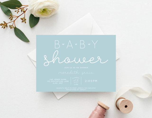 Pastel simple baby shower invitation gender neutral baby etsy image 0 filmwisefo