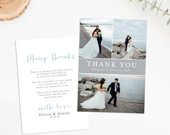 Photo Wedding Thank You Card, Wedding Thank You Card, Wedding Thank You Postcard, Wedding Photo Thank You, Wedding Thank You