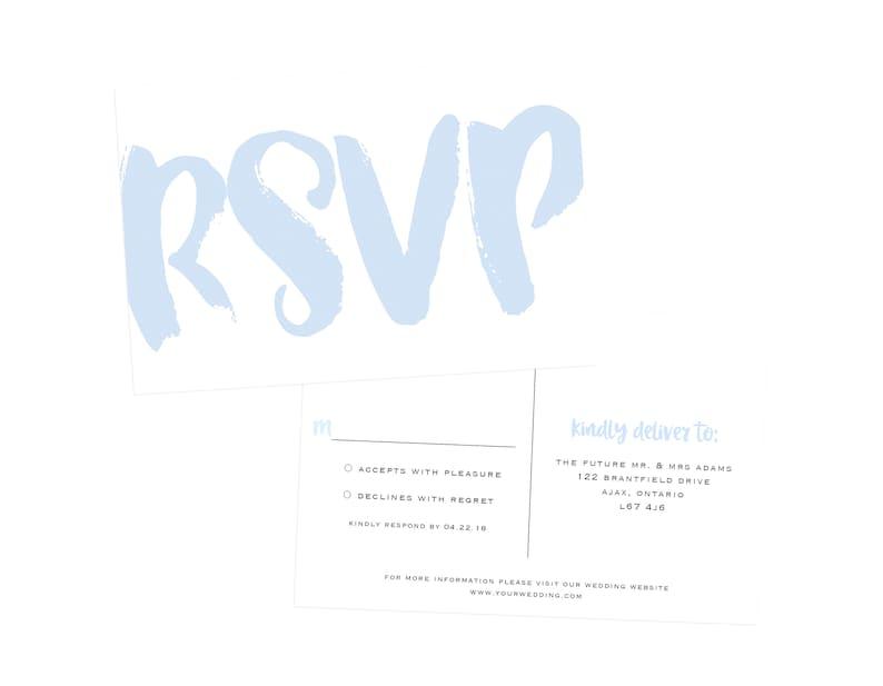 Modern Wedding Barn Wedding Invitation Set Printable Wedding Invitation Rustic Paper Wedding Invites Brush Script Wedding Invitation