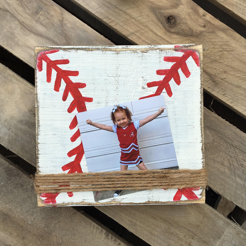 Sports Frame, Rustic Baseball Frame, Softball Frames, Distressed ...