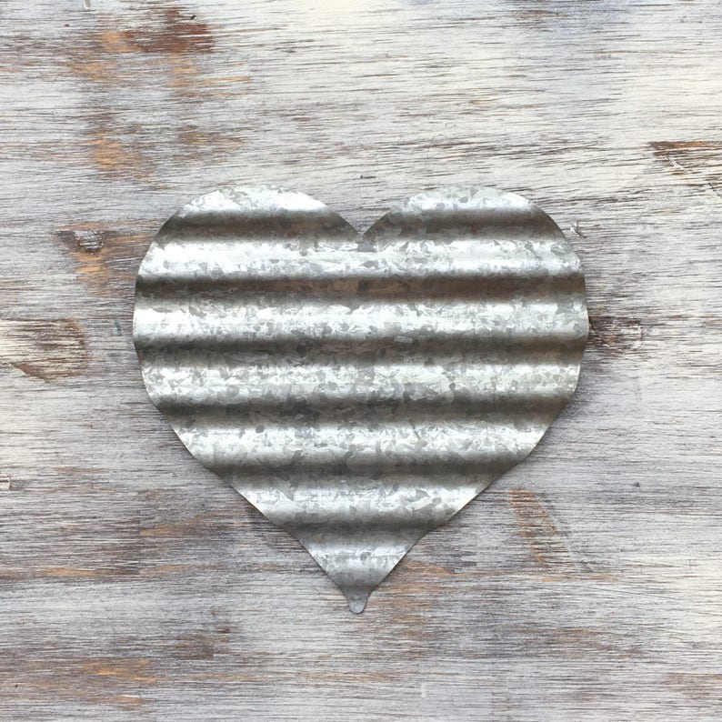 THE METAL HEART  Metal Heart Metal Letter Corrugated Metal image 0
