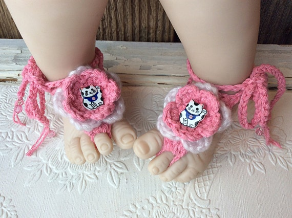 a6aafebd23c83 Crocheted booties shoes barefoot sandals kittens cats