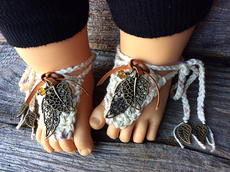 9b1db61427544 Hippie baby clothes boho barefoot sandals crochet booties