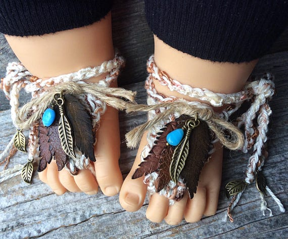 733ee5fbafbcd Baby barefoot sandals footless sandals leather shoes