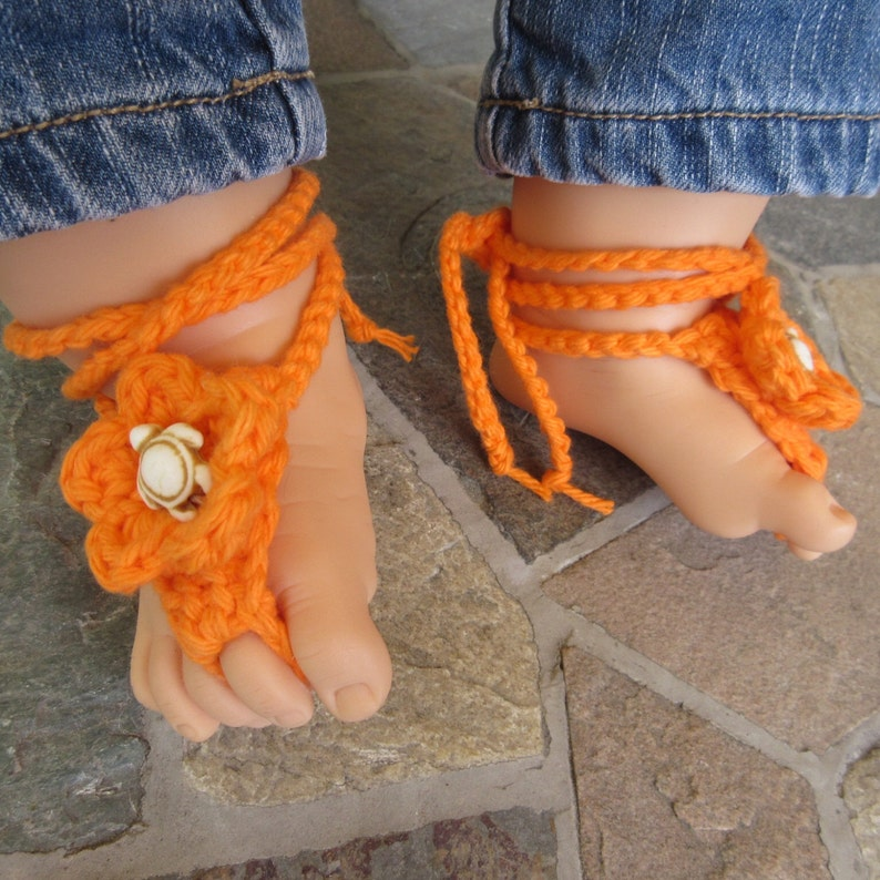 3f7b5c016bdec Boho baby shoes booties sandals bohemian barefoot turtle