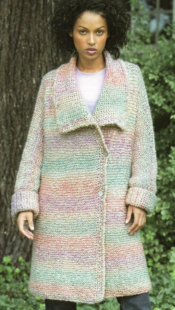Long Sweater Coat Knitting Pattern Long Cardigan Sweater | Etsy