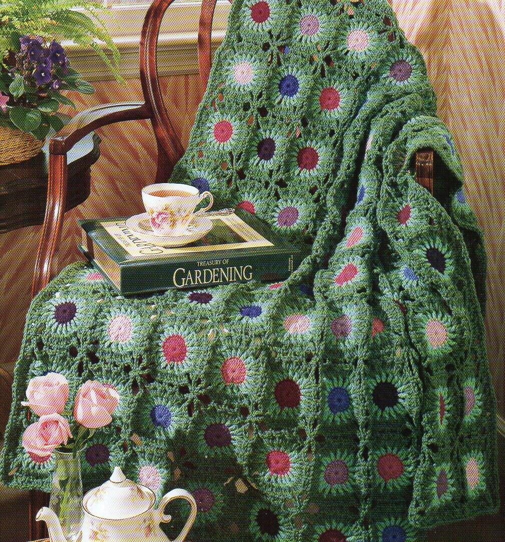 Sunflower motif afghan crochet pattern daisy flowers afghan etsy zoom izmirmasajfo