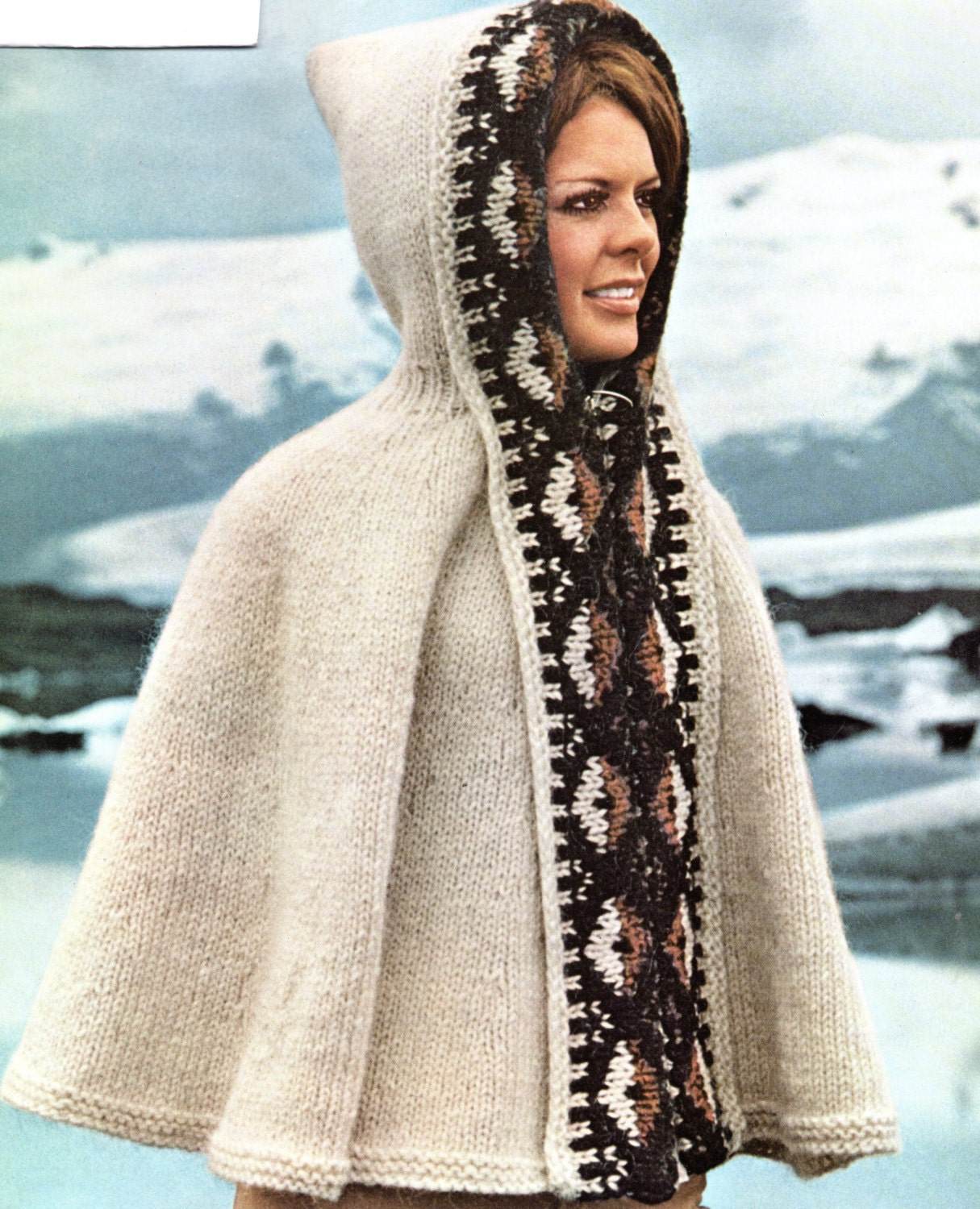 Poncho Cape With Hood Knitting Pattern Hooded Southwest Cape Poncho ...