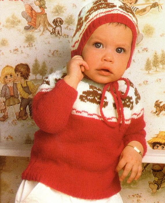Teddy Bear Sweater And Hat Knitting Pattern Teddy Bear Baby Etsy