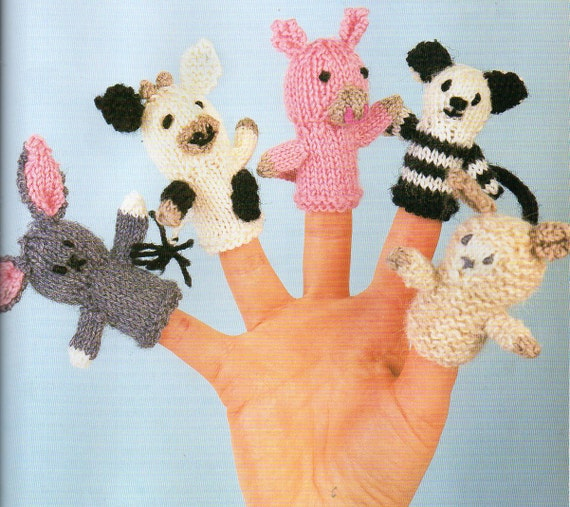 5 Farm Animals Finger Puppets Knitting Pattern Baby Child Etsy