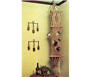 Hanging Shelf Macrame Pattern 6 Feet Tall Vintage Macrame