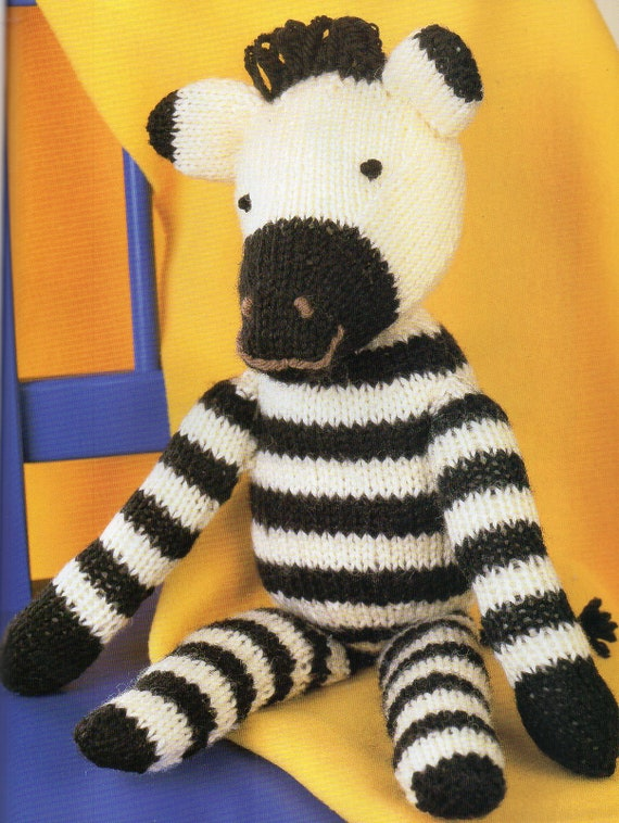 Zebra Amigurumi Toy Pillow Knitting Pattern For Baby Zoo Etsy