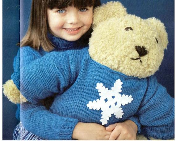Huge Teddy Bear Amigurumi Knitting Pattern Snowflake Sweater Etsy