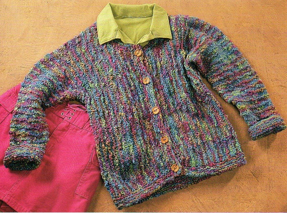 Cuff To Cuff Cardigan Sweater Knitting Pattern Child Toddler Etsy