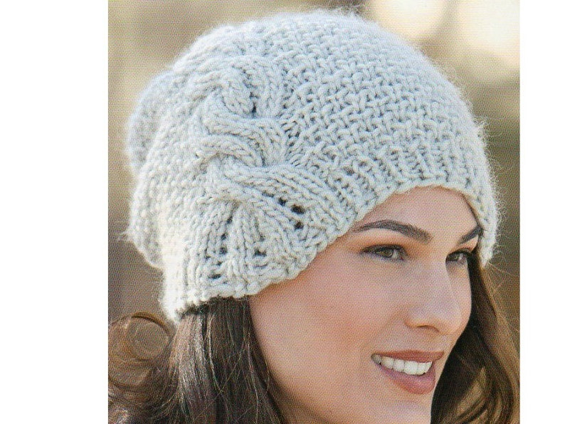 7aa58f0fbd6 Slouchy Beret Toque Hat Knitting Pattern Beanie Cap Hat