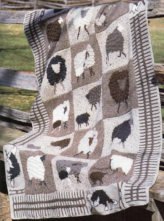 Farm Animals Afghan Knitting Pattern Lamb Sheep Fox Afghan Blanket ...