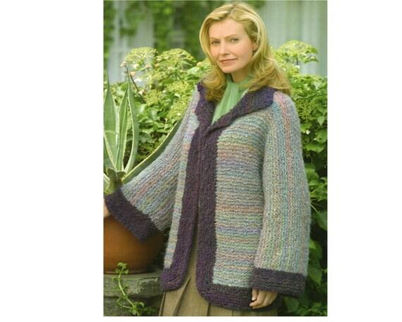 Bell Sleeve Sweater Jacket Knitting Pattern Cardigan Sweater Etsy