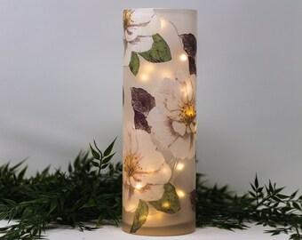 Night Light, Lamp, Vase, Light, Gift, Home decor, Glass vase, Table lamp,Holiday Decor