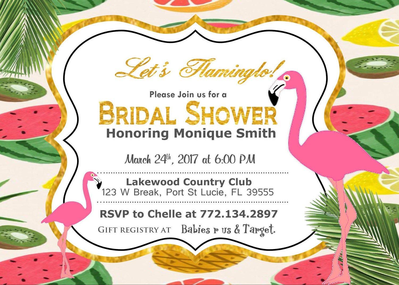 Let\'s Flamingle Bridal Shower Invitation, Baby Shower Invitation ...